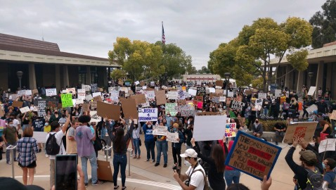Hundreds Attend George Floyd Protest at La Mirada City Hall
