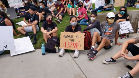 Hundreds Attend Floyd Protests in Cerritos