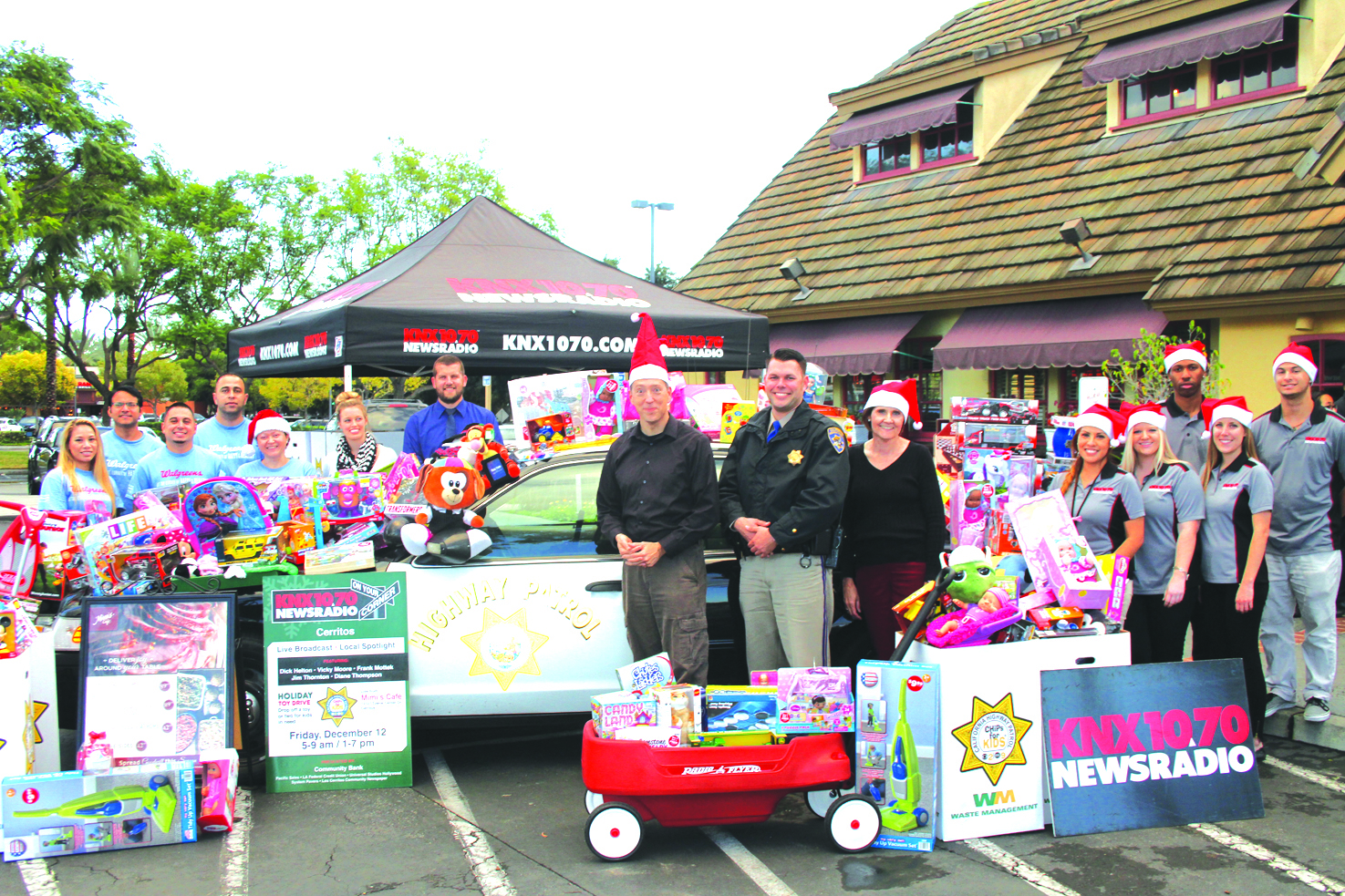 Knx 1070 newsradio on your corner toy drive largest in for Knx 1070