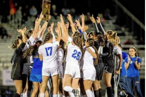 The La Mirada High varsity girls soccer team celebrated a historic victory March 6 after clinching its first uncontested CIF Championship title.