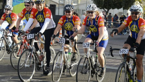 RIDING TO END POLIO – Paul Milward of La Mirada will join as many as 9,000 riders such as those pictured here in El Tour de Tucson to raise money to end polio throughout the world.