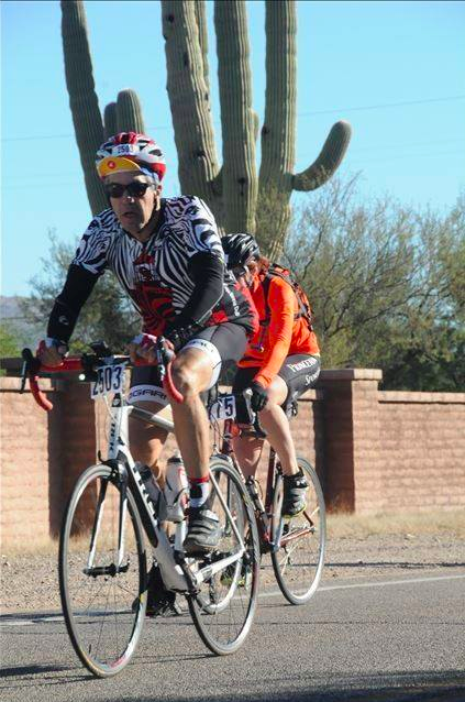 Paul Milward of La Mirada rides to honor his late father and raise funds to end polio during the El Tour de Tuscon in Arizona. The event raised more than $7.5-million to combat polio.