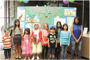 Poster Contest Winners (l-r top photo): Aiden Hamel, Emily Diaz, Nadine Massadeh, Samantha Largent, Shelbi DeCuffa, Riku Maldonadi, Cecilia Peña, Nicole Vuong, and Breanna Johnson. Photo courtesy City of La Mirada.