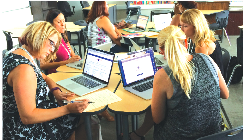 Norwalk-La Mirada Unified teachers and administrators learn about the District's 2020 Learning Initiative during a Blended Learning Summit held Aug. 5 at Corvallis Middle School.
